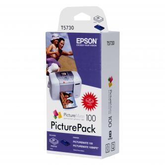 Inkoustová cartridge Epson PictureMate 100, C13T573040, CMYK, 4*39ml, 135s, +135ks papír 10x15cm, O