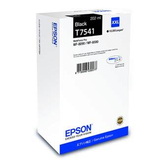 Epson originální ink C13T754140, T7541, XXL, black, 202ml, Epson WorkForce Pro WF-8090DW, WF-8590DWF