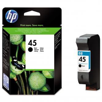 Inkoustová cartridge HP DeskJet 850, 970Cxi, 1100, 1200, 1600, 6122, 6127, 51645AE, black, No.45, 42ml, 930s, O