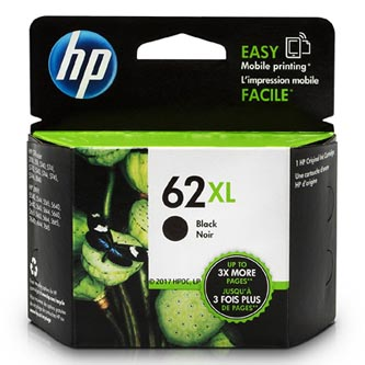 HP originální ink C2P05AE, HP 62 XL, black, 600str., HP Envy 5540,5541,5542,5543,5544,5546,5547,5548,5549