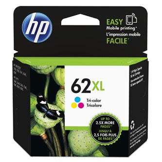 HP originální ink C2P07AE, HP 62 XL, color, 415str., HP ENVY 5540 AIO, 5640 AIO, 7640 AIO, OJ 5740 AIO