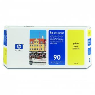 Tisková hlava a čistič hlavy HP DesignJet 4000, 4000ps, 4500, C5057A, yellow, No.90, 400ml, souprava,O