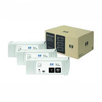 Inkoustová cartridge HP DesignJet 5000, PS, 5500, PS, C5072A, black, No.83, 3*680 ml, 3 ks, O