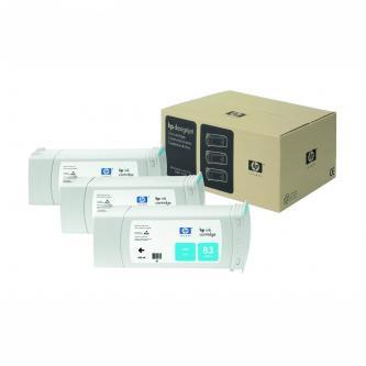 Inkoustová cartridge HP DesignJet 5000, PS, 5500, PS, C5073A, cyan, No.83, 3*680 ml, 3 ks, O