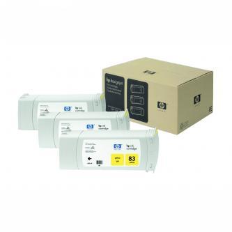 Inkoustová cartridge HP DesignJet 5000, PS, 5500, PS, C5075A, yellow, No.83, 3*680 ml, 3 ks, O