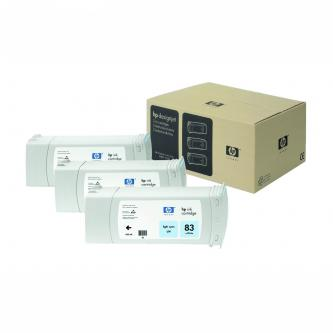 Inkoustová cartridge HP DesignJet 5000, PS, 5500, PS, C5076A, light cyan, No.83, 3*680 ml, 3 ks, O