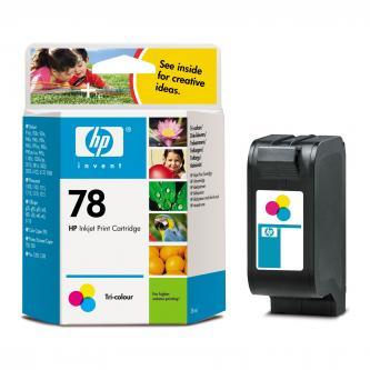 HP originální ink C6578DE, No.78, color, 450str., 19ml, HP DeskJet 970Cxi, 940, psc 750, 950, 1215, P1100