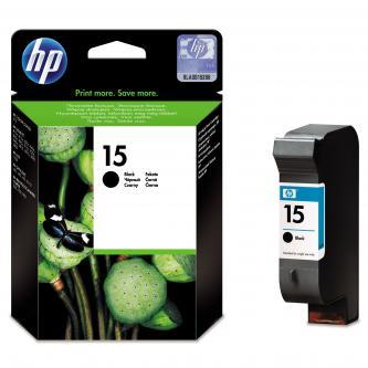 Inkoustová cartridge HP DeskJet 810, 840, 843c, PSC-750, 950, OJ-V40, C6615DE#241, black, No.15, 25ml, 500s, blistr, O
