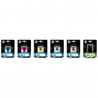 Inkoustová cartridge HP Photosmart 8250, 3210, 3310, C8719EE, black, No.363, 17ml, O