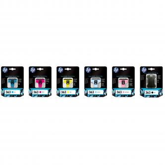 Inkoustová cartridge HP Photosmart 8250, 3210, 3310, C5180, C6180, C7180, C8771EE, cyan, No.363, 4ml, O