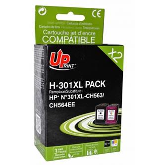 UPrint kompatibilní ink s CH563EE+CH564EE, No.301XL, black+color, H-301XL-PACK, pro HP HP Deskjet 1000, 1050, 2050, 3000, 3050