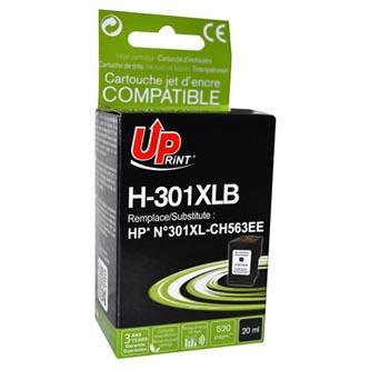 Inkoustová cartridge pro HP HP Deskjet 1000, 1050, 2050, 3000, 3050, black, H-301XLB, 20ml, bez čipu, UP, kompatibilní s CH563E