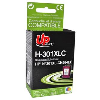 Inkoustová cartridge pro HP HP Deskjet 1000, 1050, 2050, 3000, 3050, color, H-301XLC, 21ml, bez čipu, UP, kompatibilní s CH564E