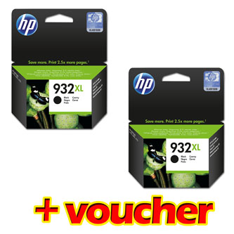 HP originální ink 2*CN053AE, HP 932XL, black, 2*1000str., HP Officejet 6100, 6600, 6700, 7110, 7610, 7510, Promo