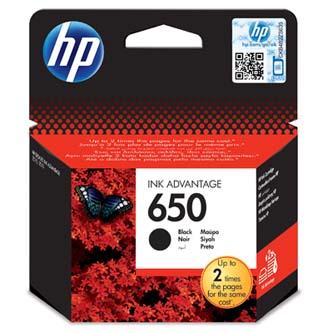 Inkoustová cartridge Pro HP Deskjet Ink Advantage 2515 AiO, 3515 e-Ai0, CZ101AE#BHK, black, HP650, 6,5 ml, 360s, O