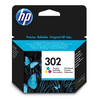 HP ink blistr, F6U65AE#301, No.302, color, 165/165/165str., 4ml, HP OJ 3830,3834,4650, DJ 2130,3630,1010, Envy 4520
