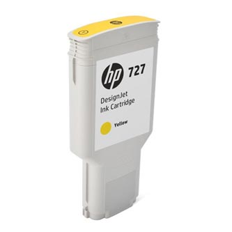 HP originální ink F9J78A, HP 727, yellow, 300ml, HP DesignJet T1530, T2530, T930