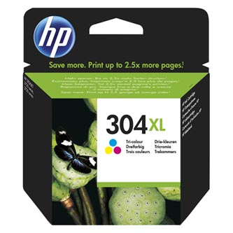 HP originální ink N9K07AE, No.304XL, Tri-color, blistr, 49str., HP Deskjet 3720,3721,3723,3730,3732,3752