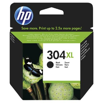 HP originální ink N9K08AE, No.304XL, black, blistr, 300str., 49ml, HP Deskjet 3720,3721,3723,3730,3732,3752