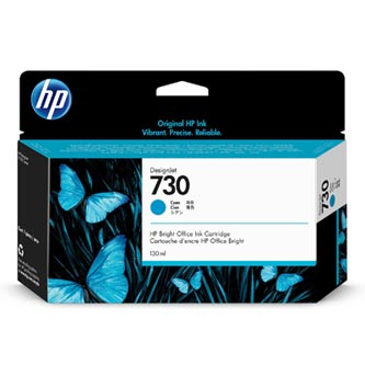 HP originální ink P2V62A, HP 730, cyan, 130ml, HP HP DesignJet T1700 Printer series