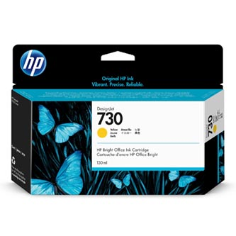 HP originální ink P2V64A, HP 730, yellow, 130ml, HP