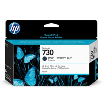 HP originální ink P2V65A, HP 730, matte black, 130ml, HP
