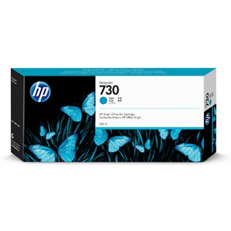 HP originální ink P2V68A, HP 730, cyan, 300ml, HP HP DesignJet T1700 44 printer series, T1700dr 44