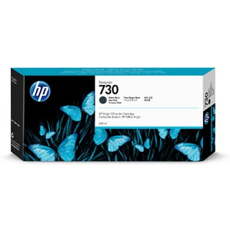 HP originální ink P2V71A, HP 730, matte black, 300ml, HP HP DesignJet T1700 44 printer series, T1700dr 44