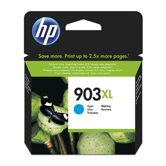 HP originální ink blistr, T6M03AE#301, No.903XL, cyan, 825str., 9.5ml, high capacity, HP Officejet 6962,Pro 6960,6961,6963,6964,69