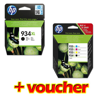 HP originální ink X4E14AE + C2P23AE, HP 934XL/935XL, CMYK, high capacity, HP Officejet 6812, 6815, 6820, OJ Pro 6230, ePrinter, Pr