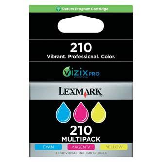 Inkoustová cartridge Lexmark OfficeEdge Pro5500, Pro5500t, Pro4000, Pro4000c, 14L0268E, CMY, #210, 3x500s, return, 3-pack, O