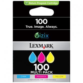 Inkoustová cartridge Lexmark S305/S405/S505/S605/PRO205/PRO705/PRO805/PRO905, 14N0849, CMY, #100, Combo, 3-pack, O