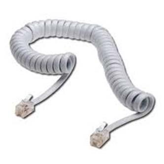 Telefonní kabel 4 žíly, RJ10 M-4m, kroucený, bílý, No Name, pro ADSL modem