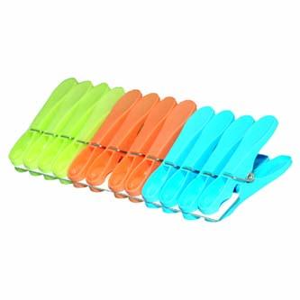 Kolíčky na prádlo, color, 12ks, JUMBO
