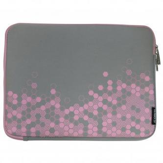 """Obal na 12,1"""" notebook, Sleeve Graphic, šedo-růžový, neoprén, 22 X 29 cm, LOGO"""