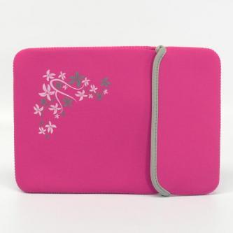 Obal na 10,1¨ netbook, Sleeve, růžový/černý, neoprén, 18,4 x 26,8 cm, LOGO