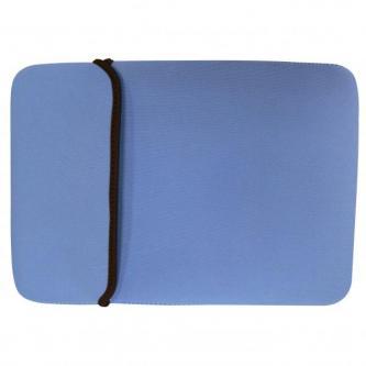 Obal na 10,1¨ netbook, Sleeve, modrý/hnědý, neoprén, 18,4 x 26,8 cm, LOGO