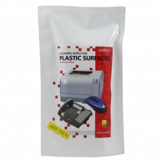 Čisticí trhací ubrousky na plasty, náhradní náplň, 100ks, LOGO