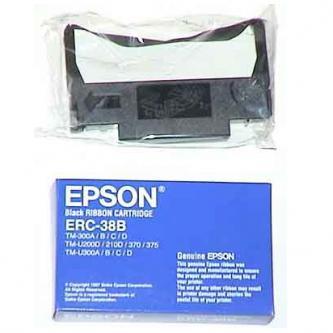 Páska do pokladny Epson ERC 38, TM-300, U 375, U 210, U 220, černá, C43S015374, O