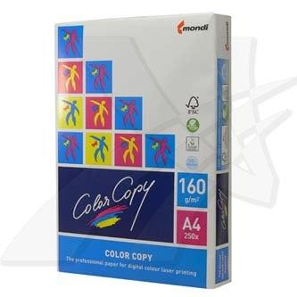 Xerografický papír Color copy, A4, 160 g/m2, bílý, 250 listů, multifunkční, spec. pro barevný laserový tisk