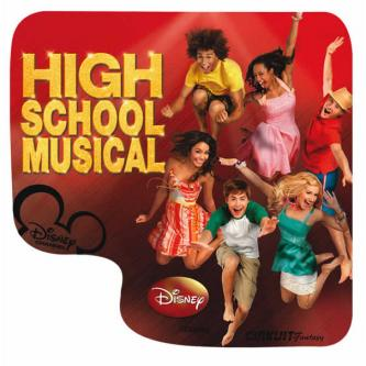 Podložka pod myš, DISNEY HIGH SCHOOL MUSICAL, z PVC, 21x24cm, 3mm