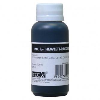 Samostatný inkoust pro HP Photosmart 8250, 3210, 3310, C5180, C6180, C7180, black, 100ml, L