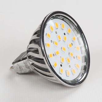 LED žárovka Inoxled MR16, 12V, 4.5W, 400lm, teplá bílá, 60000h, POWER, 24SMD, 2835