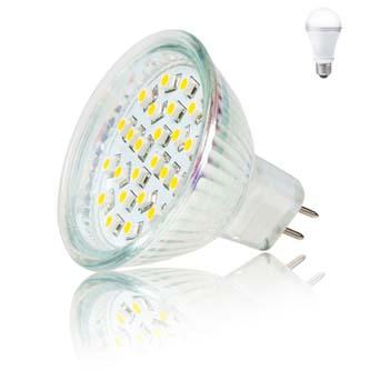 LED žárovka Inoxled MR16, 12V, 2W, 165lm, studená bílá, 60000h, ECO, 24SMD, 3528