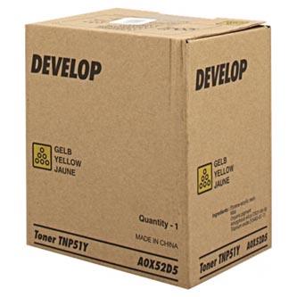 Develop originální toner A0X52D5, yellow, 5000str., TNP51Y, Develop Ineo +3110