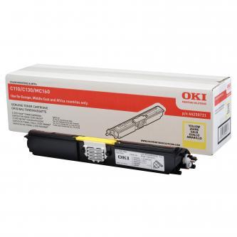 Toner OKI C110/130n/MC160, yellow, 44250721, 2500s, O