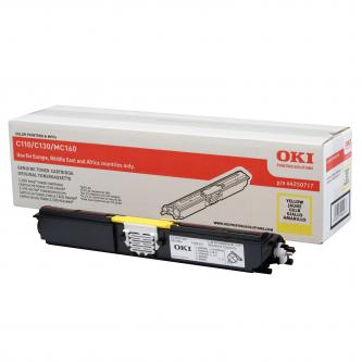 Toner OKI C110/130n/MC160, yellow, 44250717, 1500s, O