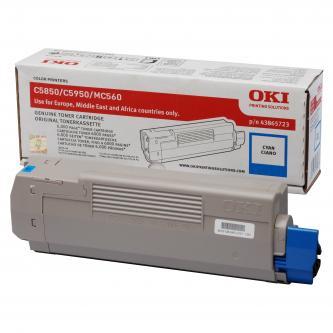 Toner OKI C5850, 5950, MC560, MC560n, MC560dn, cyan, 43865723, 6000s, O