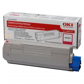 Toner OKI C5850, 5950, MC560, MC560n, MC560dn, magenta, 43865722, 6000s, O