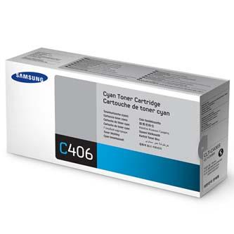Samsung originální CLT-C406S, cyan, 1000str., Samsung CLP-360, 365, CLX-3300, 3305